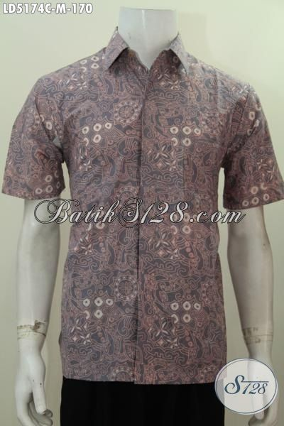 Trend Pakaian Batik Lengan Pendek Motif Terbaru Yang Di Sukai Para Pegawai, Busana Batik Motif Berkelas Tampil Trendy Saat Hangouts, Size M