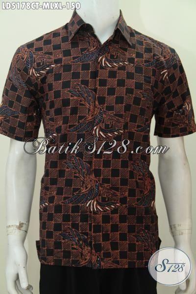 Sedia Pakaian Batik Lengan Pendek Buat Pria Muda Dan Dewasa, Baju Batik Jawa Motif Keren Proses Cap Tulis Tampil Modis Dan Kece, Size M – L – XL