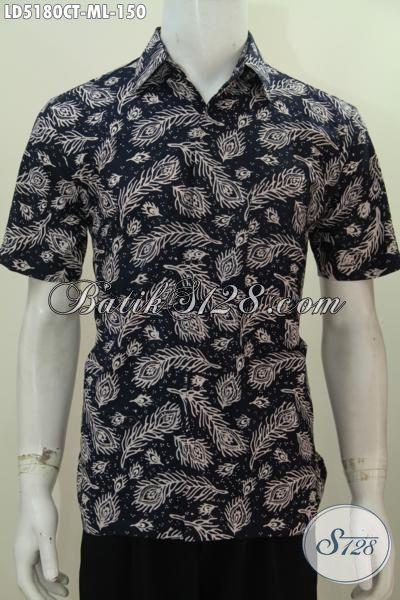 Toko Baju Batik Online Koleksi Up Date Setiap Hari, Sedia Kemeja Lengan Pendek Motif Keren Bahan Halus Proses Cap Tulis  Untuk Tampil Lebih Stylish, Size M – L
