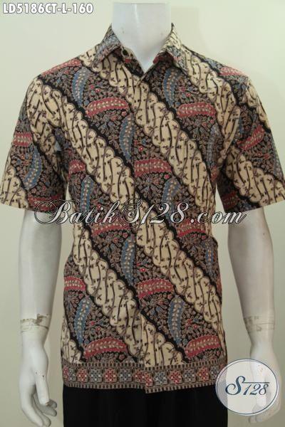 Baju Batik Modis Desain Motif Berkelas Proses Cap Tulis, Jual Pakaian Batik Seragam Kerja Ukuran L Kwalitas Halus Tampil Terlihat Menawan