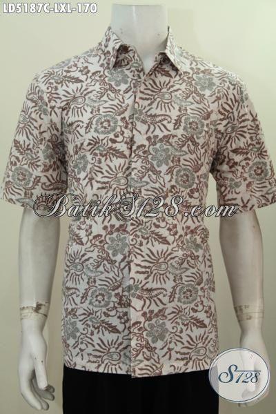 Baju Batik Santai Hadir Dengan Motif Trendy Berpadu Warna Elegan Penampilan Makin Sempurna, Kemeja Batik Lengan Pendek Proses Cap Buatan Solo Bagus Harga Terjangkau, Size L – XL