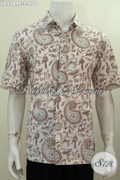 Toko Produk Batik Paling Up To Date, Jual Online Hem Lengan Pendek Khas Solo Motif Bagus Bahan Halus Proses Cap Untuk Pria Tampil Beda Dan Gaya [LD5189C-L]