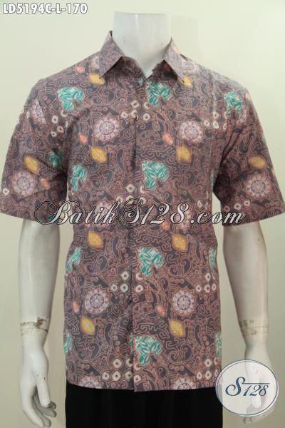 Hem Batik Solo Motif Terbaru Trend Mode Saat Ini, Busana Batik Kwalitas Bagus Bahan Halus Dan Adem Proses Cap, Tampil Gaul Dan Stylish Size L
