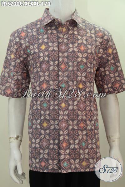 Baju Hem Keren Bahan Batik Cap Kemeja Lengan Pendek Modis