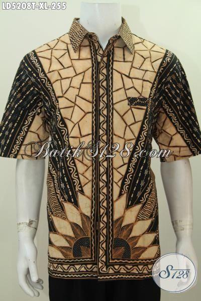 Jual Online Pakaian Batik Lengan Pendek Size XL Bahan Kwalitas Premium Proses Tulis, Elegan Untuk Kondagan Dan Acara Formal