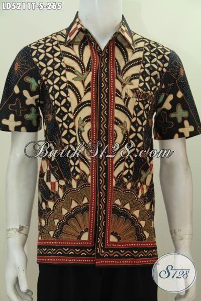 Baju Kemeja Batik Bagus Bahan Halus Dan Adem Motif Klasik Tulis Tangan, Busana Batik Kwalitas Premium Tampil Lebih Mewag Dan Gagah [LD5211T-S]