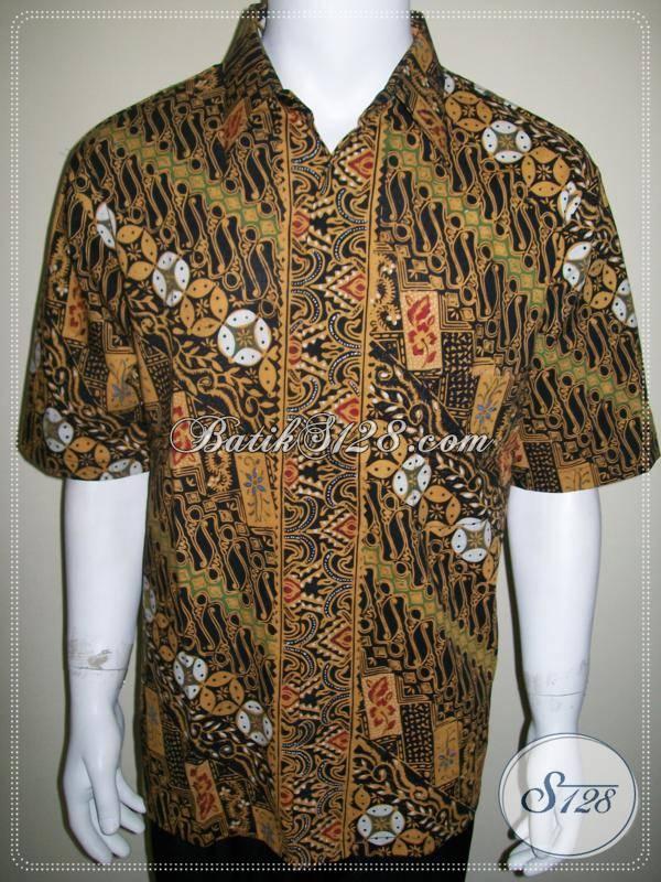 Kemeja Batik Parang, Motif Bagus, Batik Kerja Pegawai Kantor [LD521CT-XL]