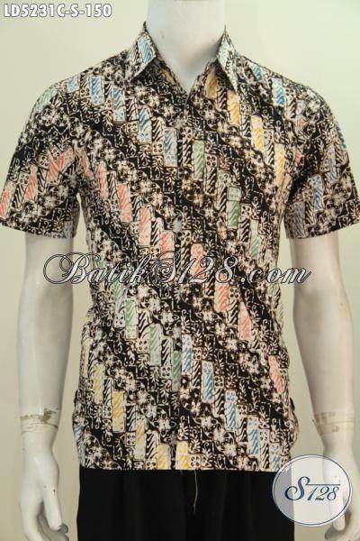Baju Batik Parang Dengan Kombinasi Warna Trendy Kwalitas Bagus Harga Terjangkau, Baju Batik Anak Muda Proses Cap Tampil Gaya Dan Modis [LD5231C-S]