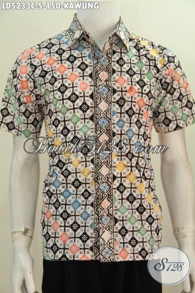 Produk Batik Batik Anak Muda Motif Kawung, Busana Batik Halus Warna Keren Proses Cap Pas banget Untuk Hangout [LD5233C-S]