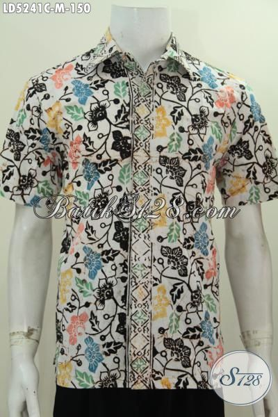 Pakaian Batik Paling Keren Buat Gaul Busana Batik Jawa Tengah Proses Cap Motif Unik Bahan Adem, Pakaian Batik Lelaki Muda Untuk Terlihat Menawan, Size M