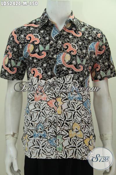 Agen Pakaian Batik Jawa Terlengkap, Jual Online Kemeja Batik Dua Motif Kwalitas Bagus Harga Terjangkau, Bisa Untuk Kerja Dan Santai [LD5242C-M]