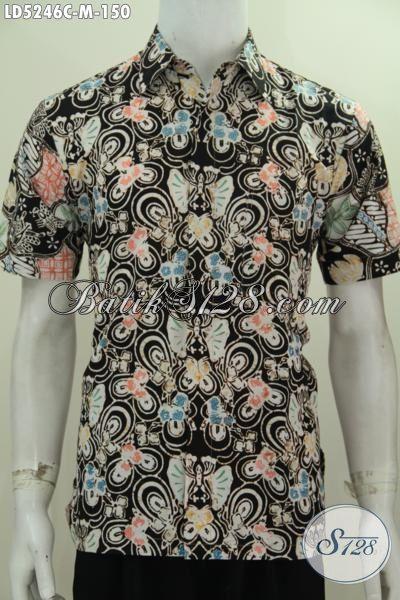 Baju Batik Pria Motif Terbaru Lebih Keren Dan Fashionable, Kemeja Lengan Pendek Batik Proses Cap Kwalitas Bagus Harga Murah [LD4246C-M]