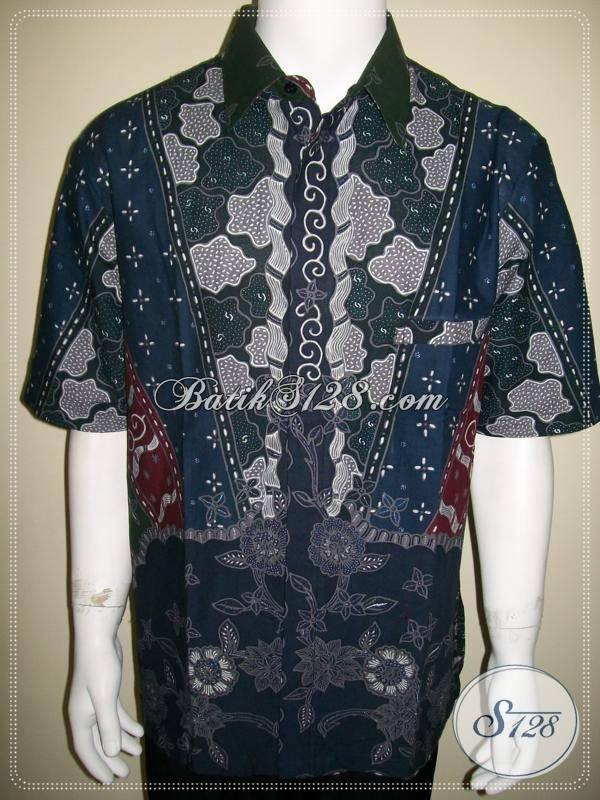 Baju Batik Tulis Pria Lengan Pendek Elegan Eksklusif