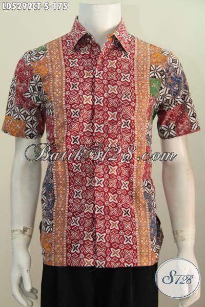 Pakaian Kemeja Batik Trendy Buatan Solo Untuk Kawula Muda Yang Ingin Tampil Beda Dan Bergaya, Baju Batik Cap Tulis Desain Motif Bagus Bahan Adem Harga Terjangkau [LD5299CT-S]