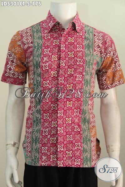 batik modern pria model slimfit