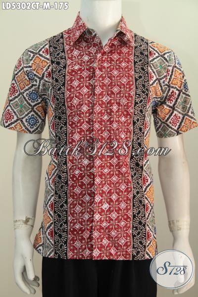 Busana Batik Keren Pria Muda Untuk Tampil Gaya Mempesona, Pakaian Batik Trendy Halus Proses Cap Tulis Motif Trend Masa Kini [LD5302CT-M]