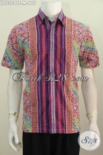 Toko Online Pakaian Batik Terlengkap, Jual Kemeja Lengan Pendek Motif Kombinasi Dengan Desain Keren Dan Gaul, Pakaian Batik Pria Masa Kini Tampil Modis Dan Gagah [LD5308CT-M]