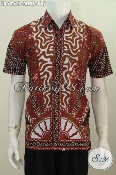 Kemeja Batik Printing Elegan Motif Klasik, Busana Batik Lengan Pendek Berkelas Untuk Kerja Dan Acara Formal Dengan Bahan Adem Motif Bagus Tampil Makin Berwibawa, Size M – L – XL