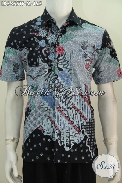 Aneka Pakaian Batik Lengan Pendek Premium Buatan Solo Motif Mewah Proses Tulis, Baju Kerja Pake Furing Bikin Penampilan Makin Percaya Diri Harga 400 Ribuan [LD5355TF-M]