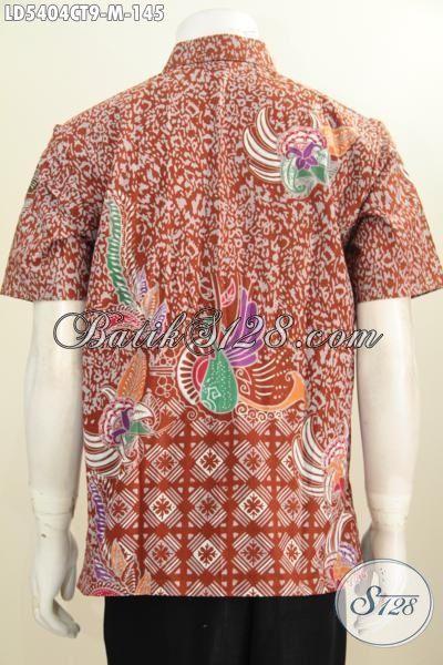 Produk Terbaru Pakaian Batik Modis Untuk Pria Muda, Busana Batik Dua Motif Proses Cap Tulis Keren Buat Jalan-Jalan, Size M