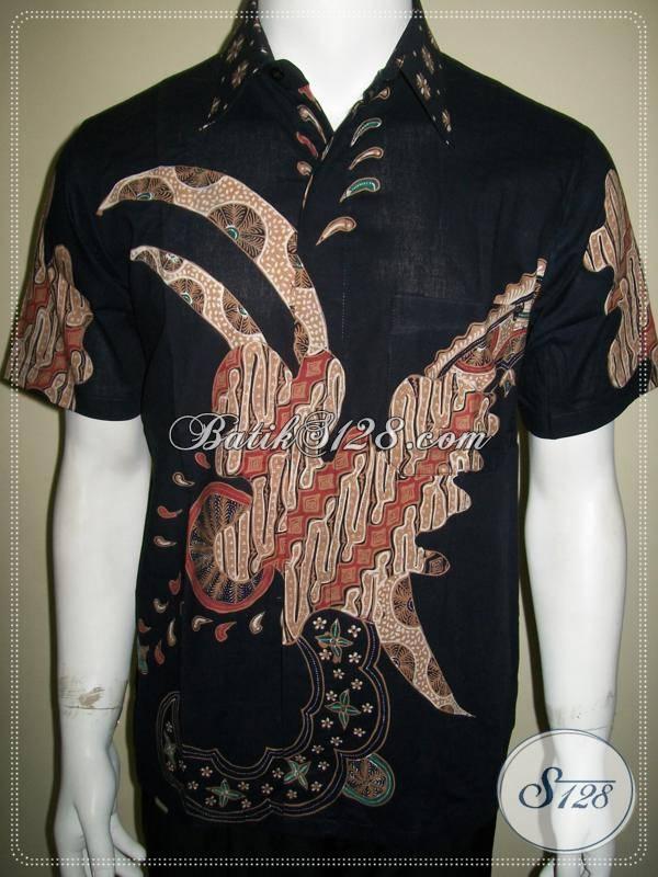 Baju Batik Tulis Pria Lengan Pendek Modern Kontemporer
