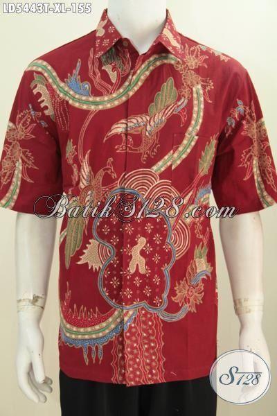 Kemeja Batik Cowok Ukuran XL Kwalitas Bagus Bhan Halus Proses Tulis, Baju Batik Mewah Harga Murah Hanya Di Sini
