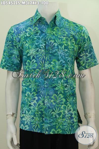 Baju Batik Hem Cap Smoke Istimewa Buatan Solo Indonesia, Kemeja Batik Keren Kwalitas Bagus Harga 100 Ribu, Size M – L – XL