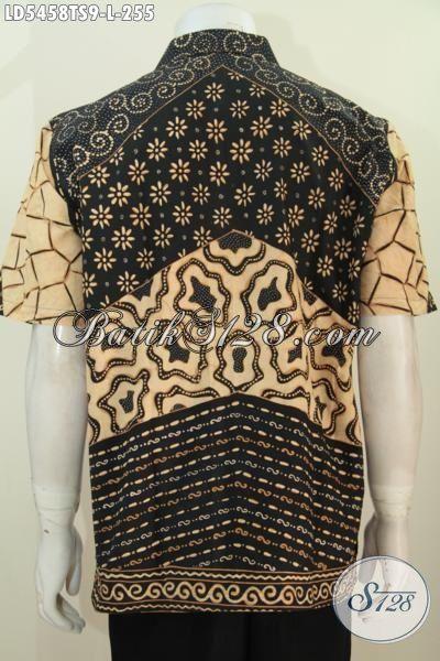 Baju Hem Batik Istimewa Kwalitas Premium Untuk Kerja Dan Rapat, Busana Batik Tulis Soga Lengan Pendek Size L Harga 200 Ribuan