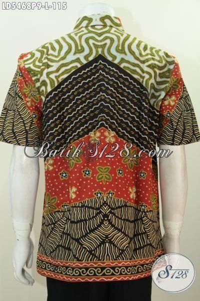 Jual Online Batik Hem Istimewa Kwalitas Bagus Motif Klasik Proses Printing, Baju Kerja Batik Halus Buatan Solo Harga Terjangkau, Size M – L