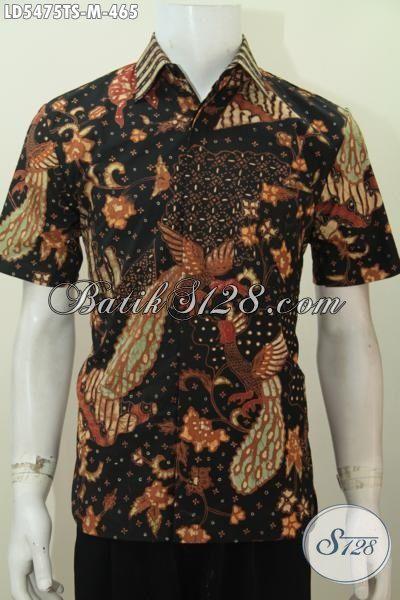 Pusat Pakaian Batik Online Terlengkap, Sedia Hem Modis Lengan Pendek Buatan Solo Trend Motif Terkini, Baju Batik Kwalitas Premium Untuk Pria Muda Tampan Maksimal, Size M