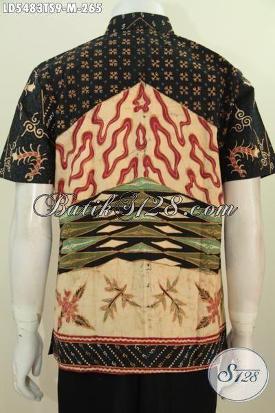 Jual Online Baju Hem Lengan Pendek Batik Tulis Soga Size M Motif Terkini, Baju Batik Elegan Untuk Lelaki Muda Terlihat Modis Dan Mempsona