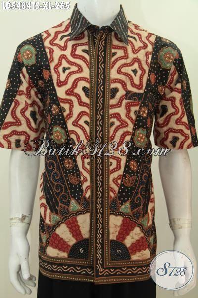 Online Shop Produk Batik Paling Lengkap, Jual Kemeja Lengan Pendek Batik Tulis Soga Halus Istimewa Buat Kerja Dan Acara Formal Kwalitas Bagus Size XL