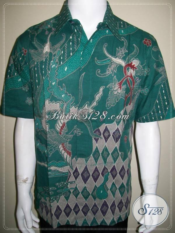 Batik Pria Lengan Pendek Modern Terbaru Warna Hijau Soft [LD550T-L]