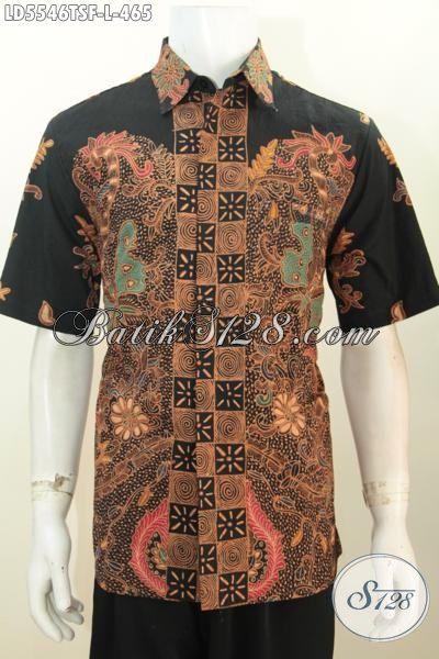 Baju batik pria model slimfit