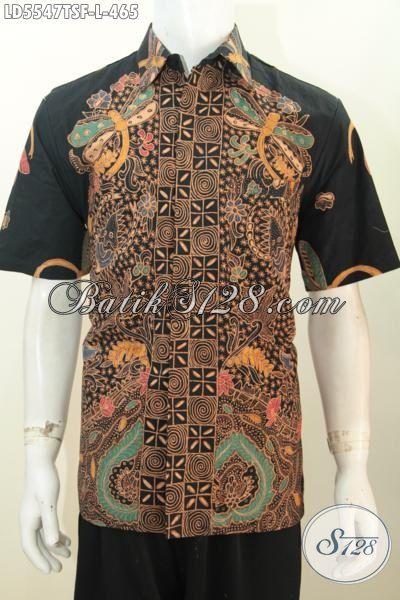 Baju Batik Pria Muda Dan Dewasa Model Lengan Pendek Pake Furing, Kemeja Batik Premium Size L Proses Tulis Soga Di Jual Online Harga Grosir