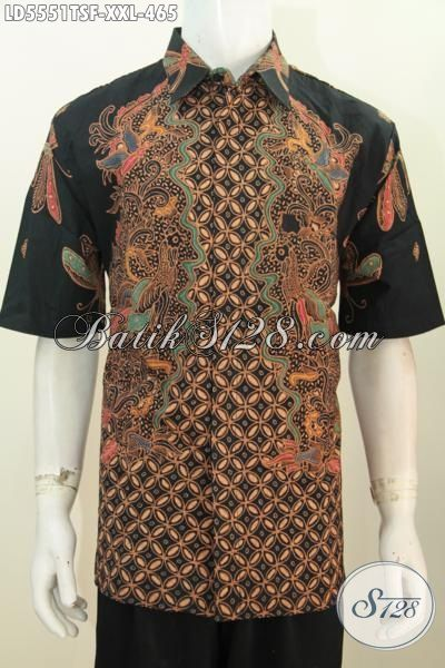 Baju Batik Mewah Ukuran Jumbo Busana Batik Lengan Pendek