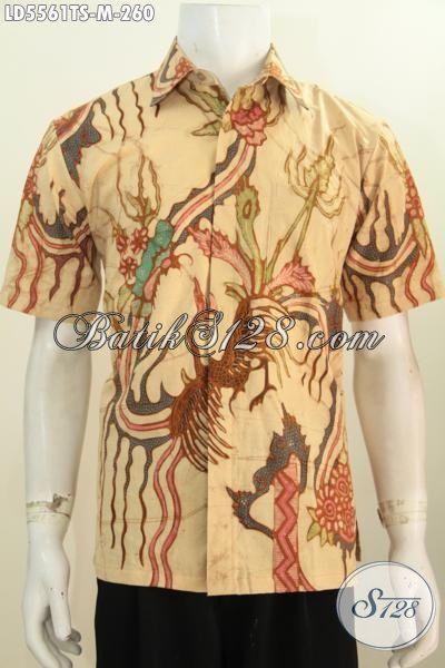 Juragan Batik Online Paling Up To Date, Sedia Hem Lengan Pendek Batik Bagus Proses Tulis Soga Motif Trendy Bikin Cocok Terlihat Tampan Maksimal [LD5561TS-M]