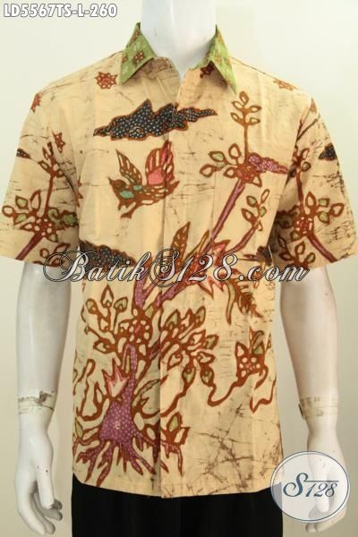 Hem Batik Keren Motif Trend Anak Muda Masa Kini, Pakaian Batik Solo Tulis Soga Untuk Lelaki Dewasa Ukuran L