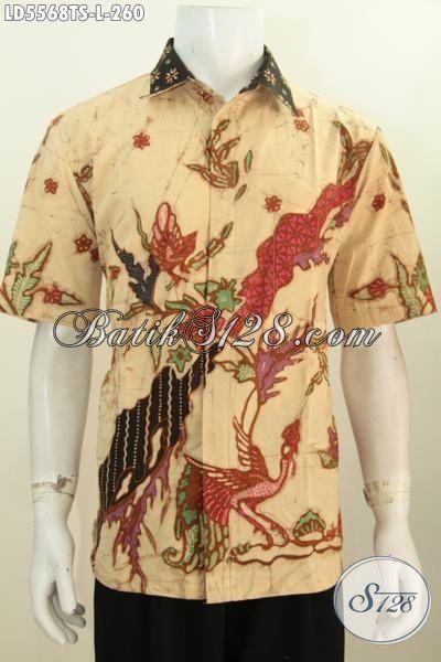 Pakaian Batik Modern Khas Kawula Muda , Hadir Dengan Motif Keren Bahan Halus Proses Tulis Soga Cocok Buat Pesta, Size L