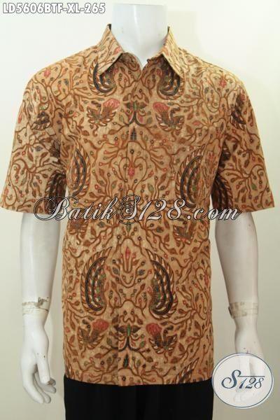 Hem Batik Klasik Lengan Pendek Pake Furing Baju Batik