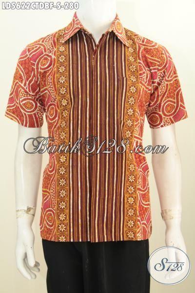 Model baju batik pria slimfit bahan dolby