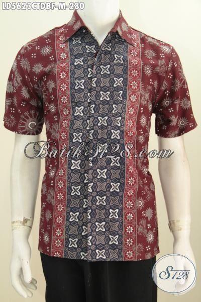 Hem Batik Pria Motif Kombinasi, Baju Batik Keren Bahan Dolby Kwalitas Istimewa Daleman Full Furing Membuat Penampilan Terlihat Mewah, Size M