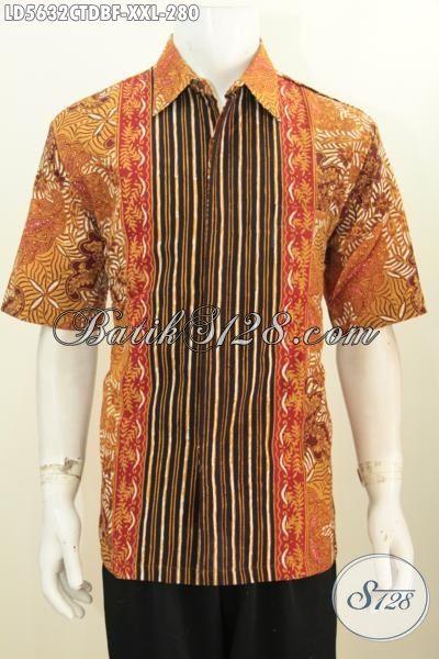 Produk Kemeja Batik Spesial Untuk Cowok Gemuk, Pakaian Batik Modis Halus Trend Masa Kini Untuk Penampilan Lebih Mempesona, Berbahan Dolby Daleman Full Furing Katun, Size XXL