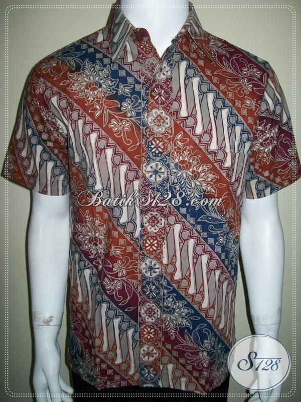 Kemeja Batik Modern Motif Klasik Parang Warna Gradasi Elegan [LD563CTC-M]