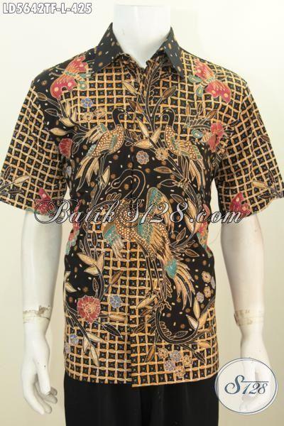Baju Batik Solo Motif Terbaru Proses Tulis Tangan Asli, Pakaian Batik Full Furing Premium Model Lengan Pendek Pas Banget Untuk Acara Spesial [LD5642TF-L]