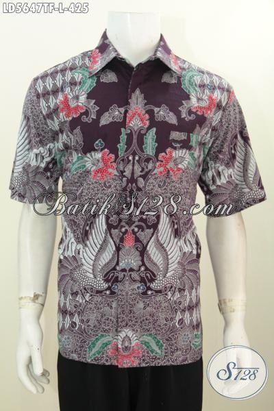 Hem Batik Tulis Ful Furing Model Lengan Pendek, Baju Batik Istimewa seragam Kerja Kantoran Kwalitas Bagus Dan Istimewa Tampil Lebih Percaya Diri, Size L