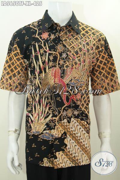 Kemeja Batik Ukuran XL, Produk Baju Batik Mewah Elegan Motif Bagus Proses Tulis Tangan Asli, Batik Kerja Istimewa Full Furing Harga 400 Ribuan, Size XL