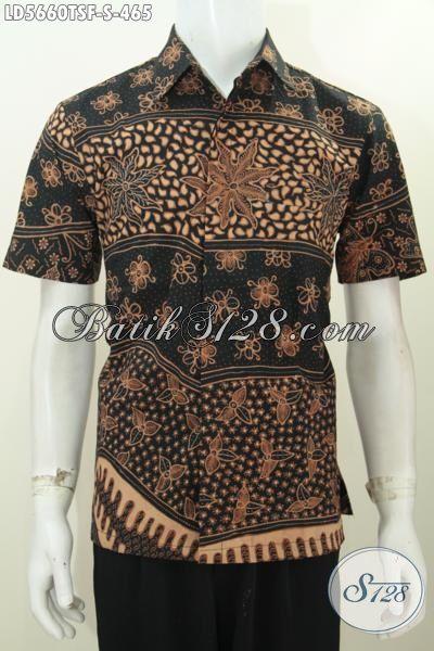 Hem Batik Kawula Muda Dengan Warna Elegan Berpadu Motif Trendy Proses Tulis Soga, Pakaian Batik Full Furing Lengan Pendek Di Jual Online Harga 465K [LD5660TSF-S]
