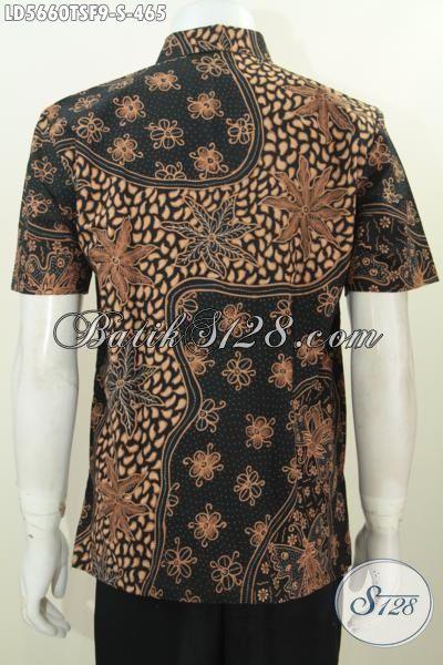 Baju Batik Kerja Ukuran Kecil Untuk Lelaki Muda, Baju Batik Elegan Proses Tulis Soga Kwalitas Halus Size S Daleman Full Furing Tampil Makin Berkelas
