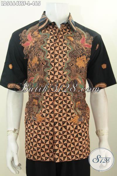 Hem Batik Untuk Kerja Motif Terkini, Baju Batik Halus Premium Desain Mewah Proses Tulis Soga Daleman Furll Furing Lebih Mewah Dan Berkelas, Size L